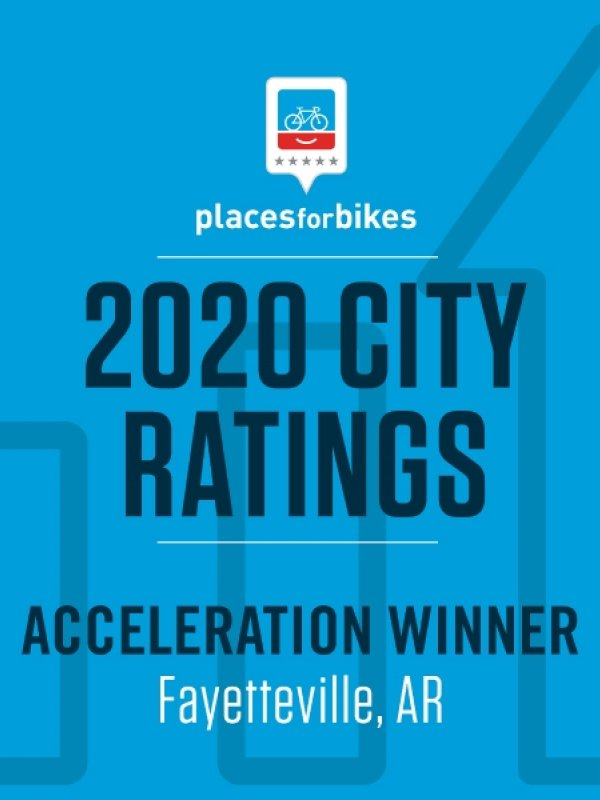 Fayetteville Ranked a Top 10 Best U.S. City for Bicycles