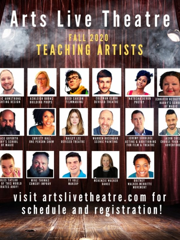 Arts Live Theatre Classes - Sept-Nov 2020
